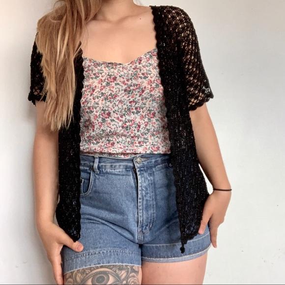 Vintage beaded crochet cardigan